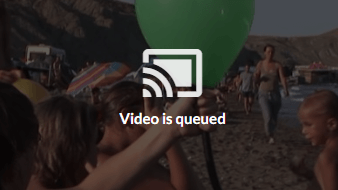 Video is queued